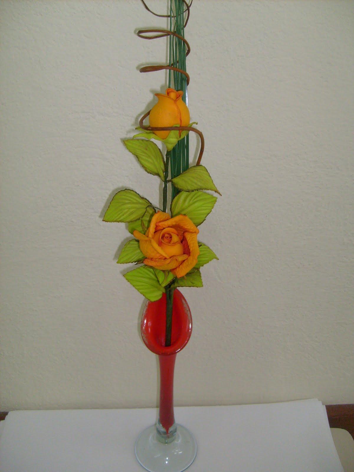 Arranjo   Rosas Em EVA