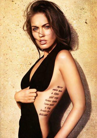 Megan Fox Rib Tattoo