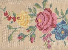 Rosas em Ponto Cruz