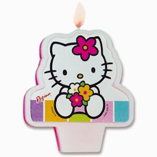 Hello Kitty com buque de flores
