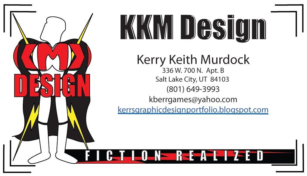 Graphic design experience kkm game character design for Game designer business cards