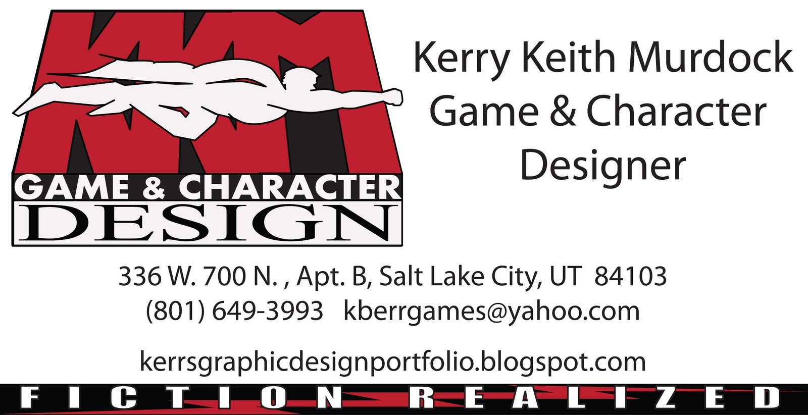 Graphic design experience kkm game character design for Game designer business card