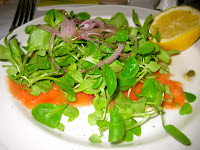 Salmon carpaccio at Il Cantinori