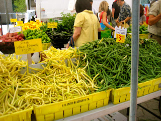 wax beans at greenmarket