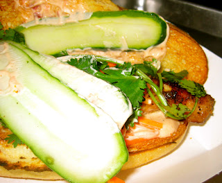peppercorn catfish sandwich at Num Pang