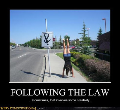 following the law involves some creativity