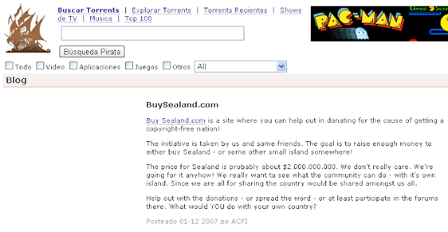 Buy Sealand Pirate Bay blog post