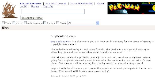Buy Sealand Pirate Bay blog post
