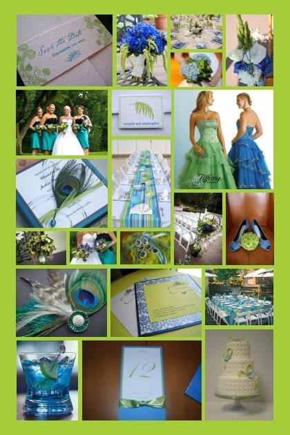 BLUE GREEN WHITE WEDDING COLOR PALETTE