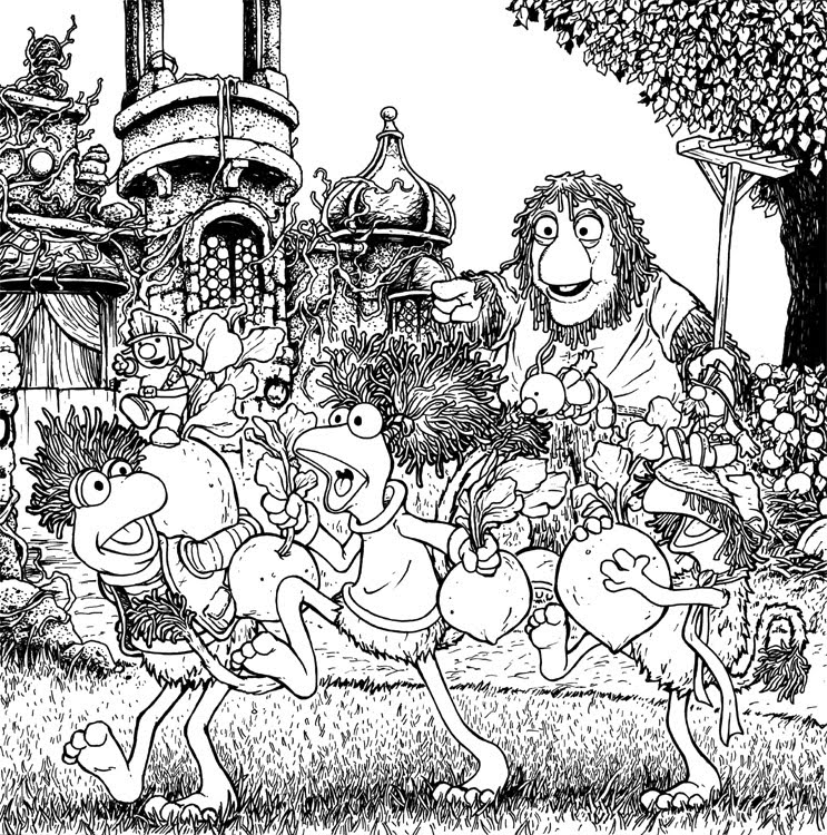 fragle rock coloring pages - photo#21