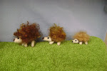 Felted Hedgehog Family