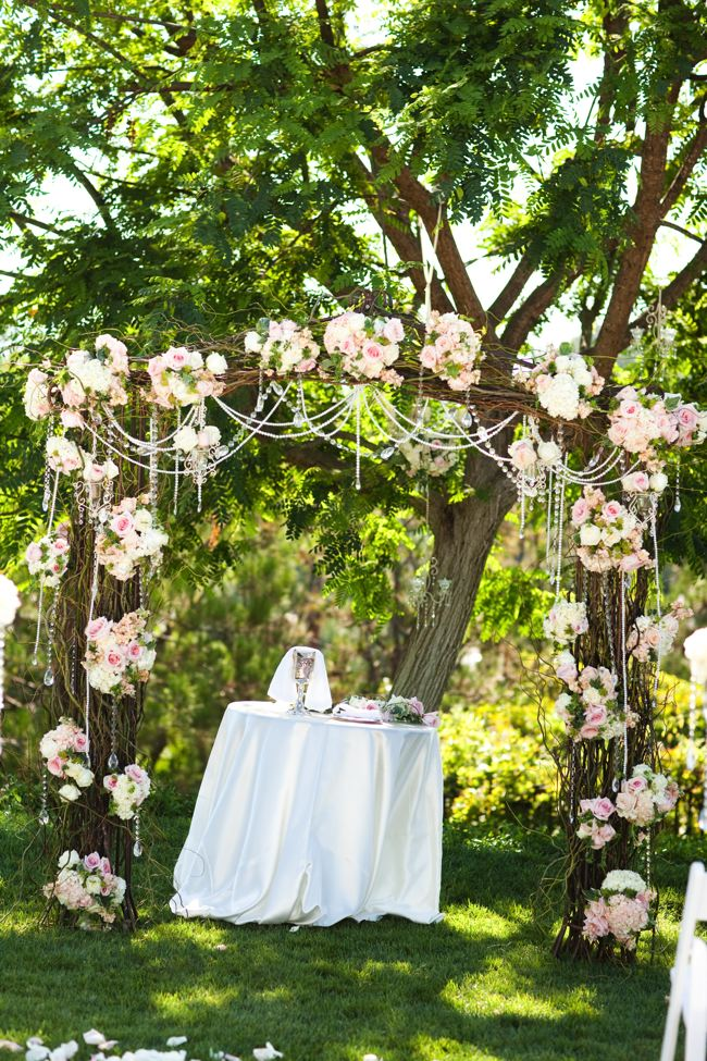 This arbor featured on Joyful Weddings and Events is just beautiful