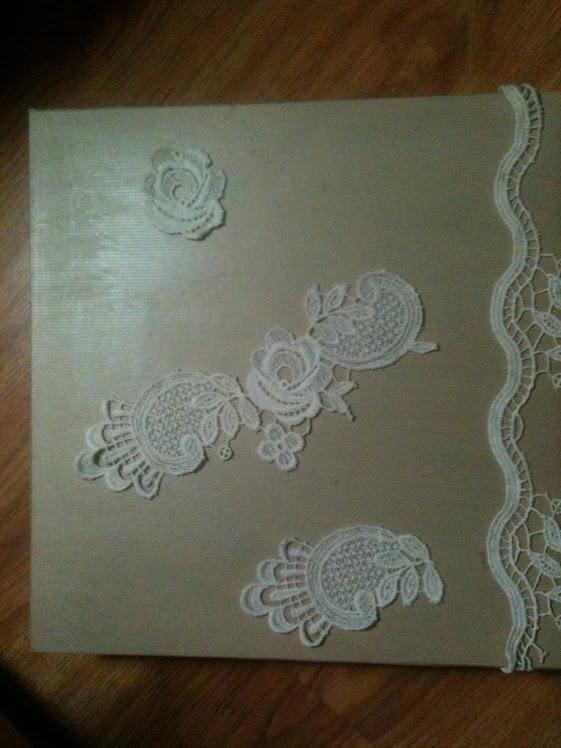 Caja Vintage para un libro de boda