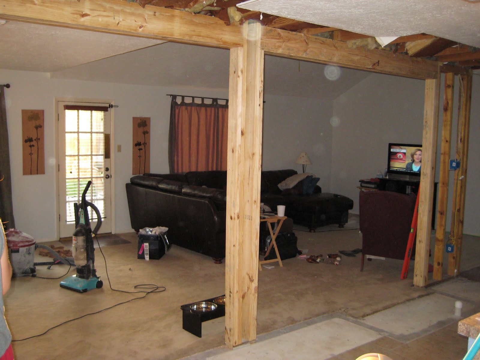 We Removed The Wall Between Kitchen And Living Room Dining Took Up About Three Feet Deep 18 Length