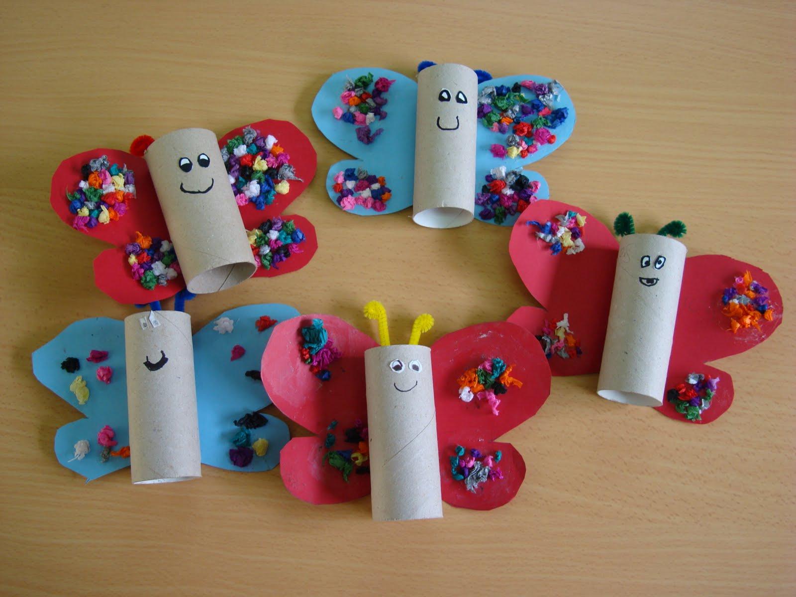mariposas con rollos de papel higinico manualides pinterest rollos de papel higinico papel higinico y mariposas