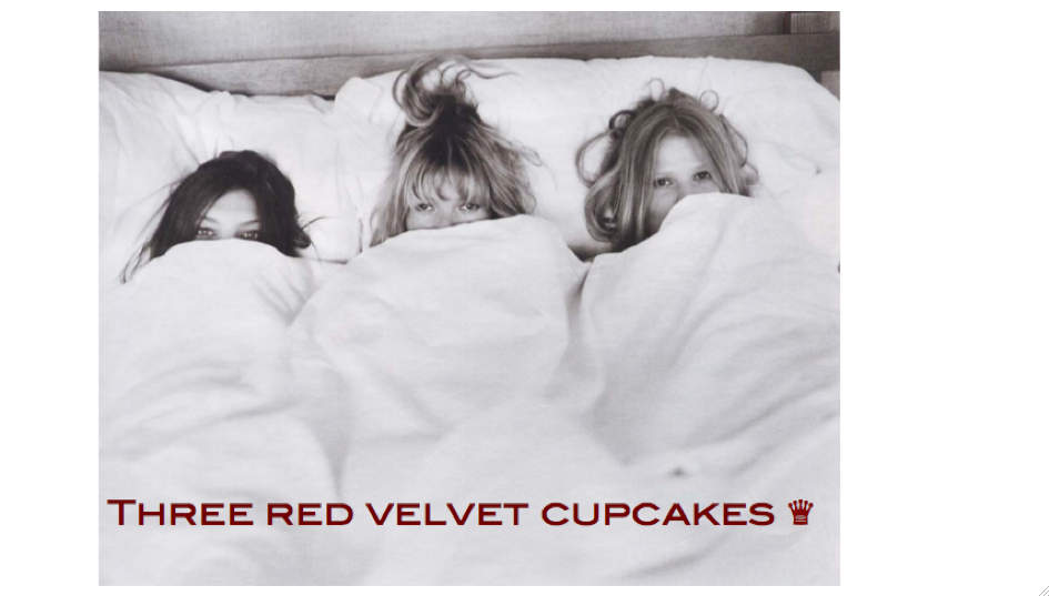 Three Red Velvet Cupcakes ♛