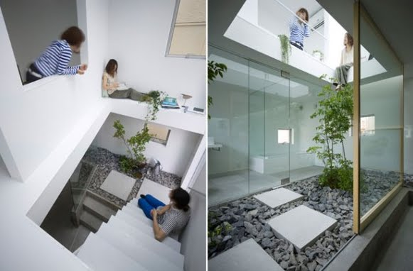 Tendenza idea design giardino dentro casa for Piani di casa con giardino interno