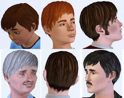Labels: Hair, Hair by Oepu, Male Hair