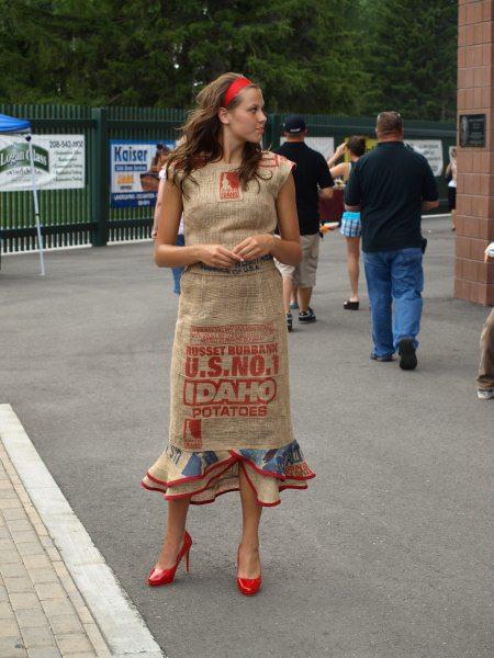 potato boutique potato sack dress extraordinaire