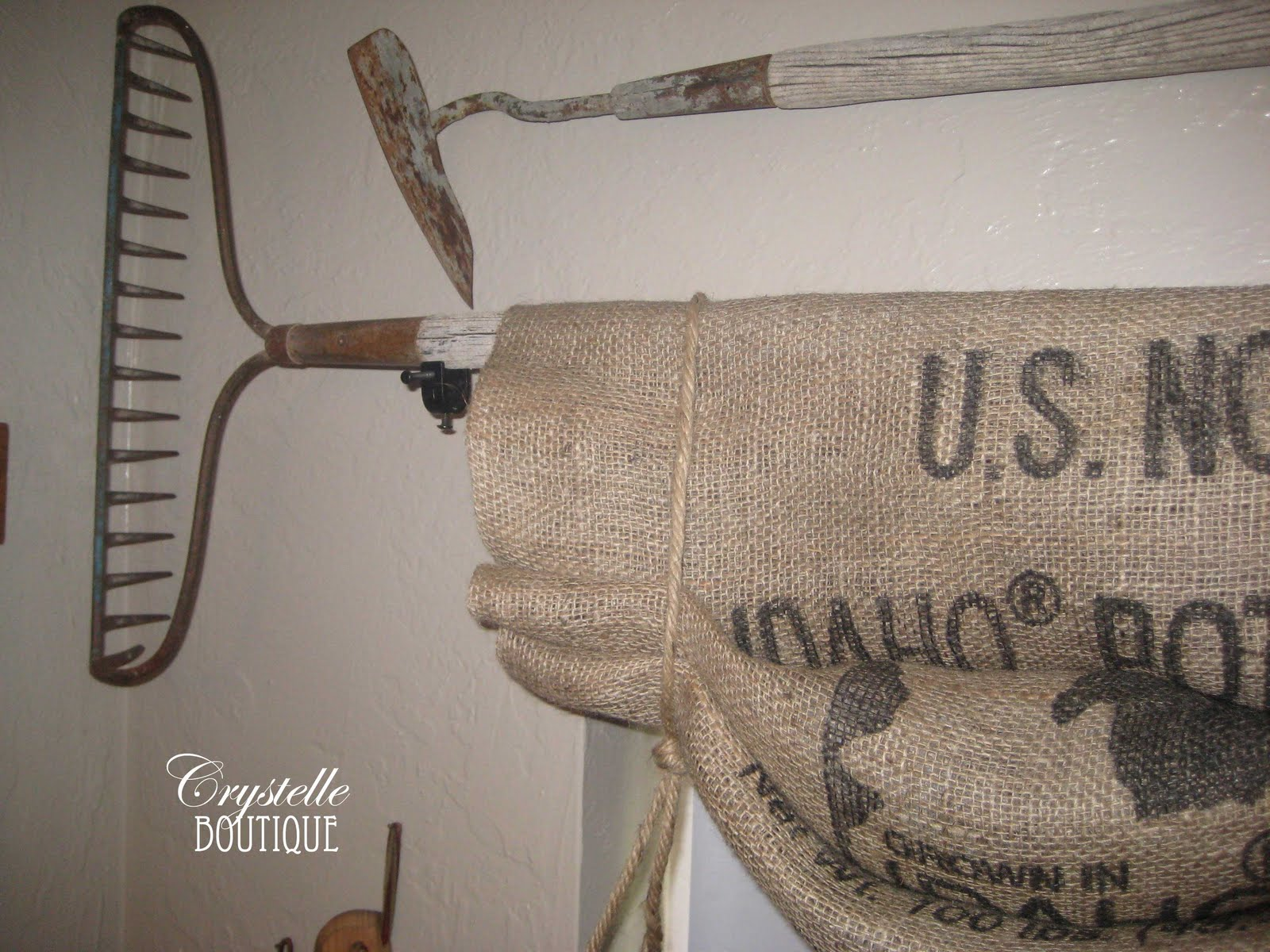 potato boutique burlap curtains potato sack style