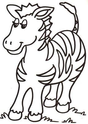 Dibujo fácil de una cebra o zebra para dibujar o pintar