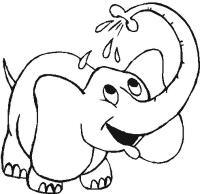 Dibujo de elefante para colorear para niños