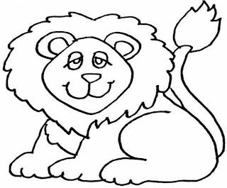 León para colorear o pintar para niños