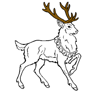 Dibujo de venado con cuerno pintado