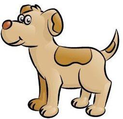 Dibujo de un perro de perfil