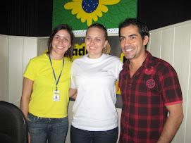 Juliana Lunardelli em visita a Rádio Rural FM - Campo Mourão-PR