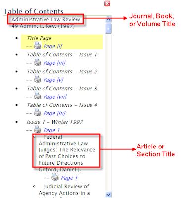 Heinonline blog april 2008 for Html table title
