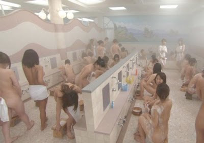 Naked women in shower rooms