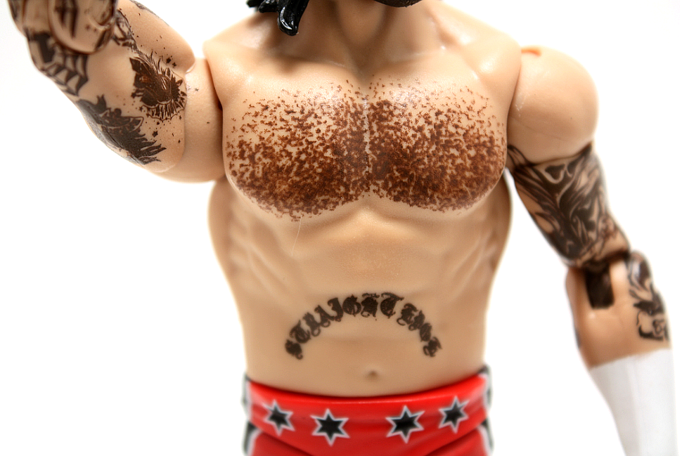 Conspicuous by it's absence this time around, are CM Punk's knuckle tattoos