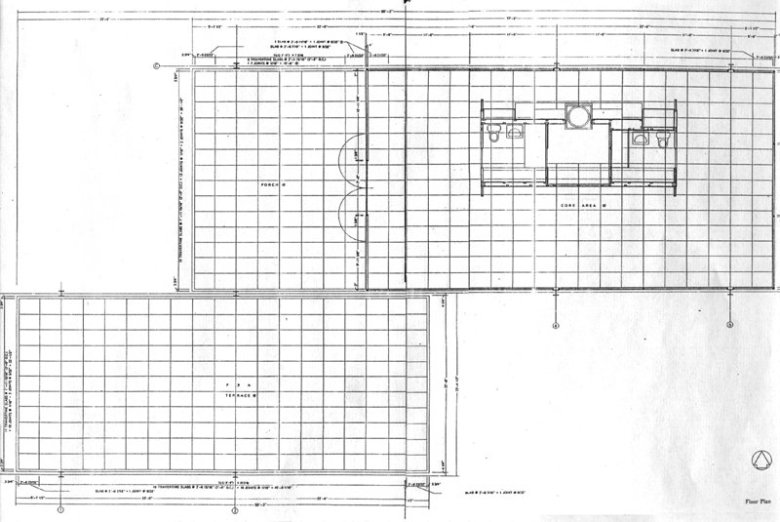 Interior design 101 for Farnsworth house floor plan