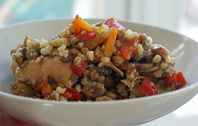Braised+chicken,+lentils+and+barley+2 Braised Chicken Thighs with Lentils and Barley