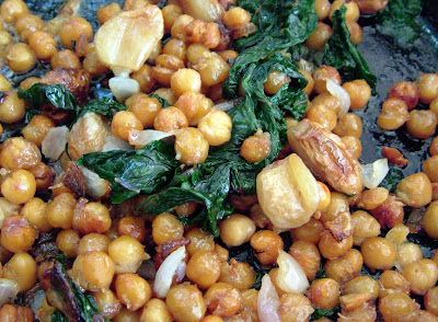 Chick+Peas+%26+Chard Day 220: Roasted Chick Peas with Garlic and Chard