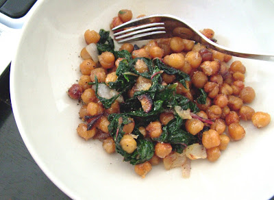 Chick+peas+%26+chard+2 Day 220: Roasted Chick Peas with Garlic and Chard