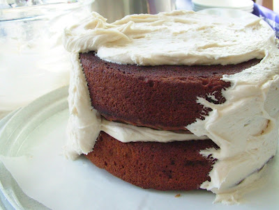 Melva%27s+Cake Day 285: Spiced Pumpkin Cake with Cream Cheese Frosting