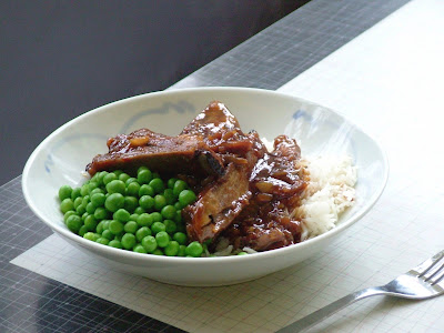 Ginger+Soy+Ribs Day 305: Sticky Ginger Soy Ribs, Peas and Rice