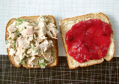Turkey+Salad+Sandwich Day 362: Turkey Salad Sandwiches with Cranberry Ketchup and Hot Chocolate Bisque