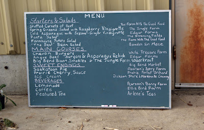 Menu Local Food on the Farm