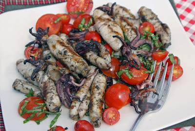 Calamari+ +grilled Calamari: Grilled, then Fried