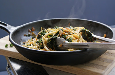 Spaghetti+with+Kale Spaghetti with Braised Kale