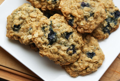 Blueberry+cookies Chewy Blueberry Oatmeal Cookies
