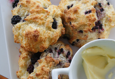 Blackberry+scones Lemon Blackberry Drop Scones