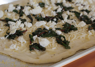Pizza Bianca with Goat Cheese and Chard - Dinner With Julie