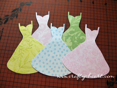 Paper dresses for card-making