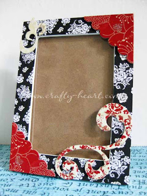 Altered wooden photo frame