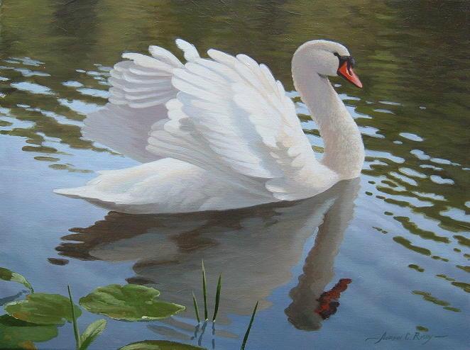 а белый лебедь на пруду видео клип