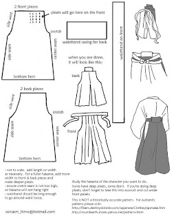 Amazon.com: Hakama Pants Pattern